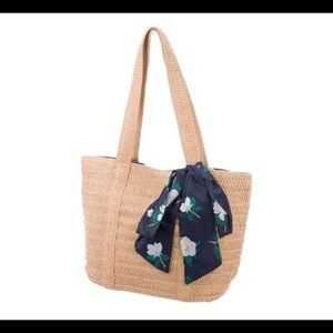 Draper James Straw Bag with Scarf